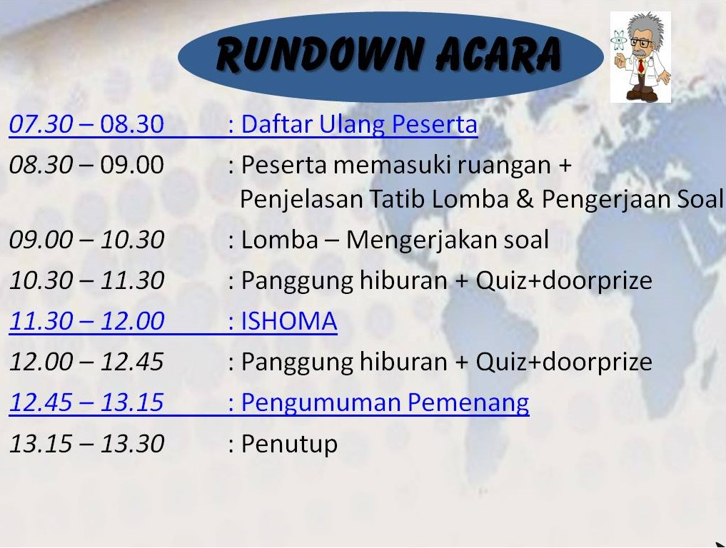 Rundown Acara AMSO -  Sabtu 5 November 2016